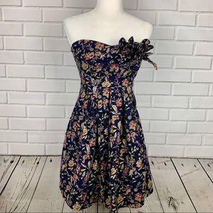MM COUTURE By MISS ME Strapless Floral Print Dress